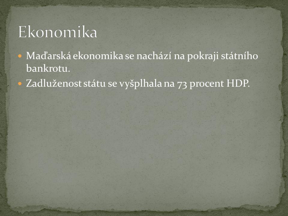 Maďarská ekonomika se nachází na pokraji státního bankrotu.