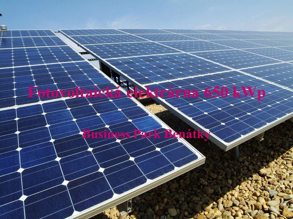 Fotovoltaická elektrárna 650 kWp Business Park Benátky