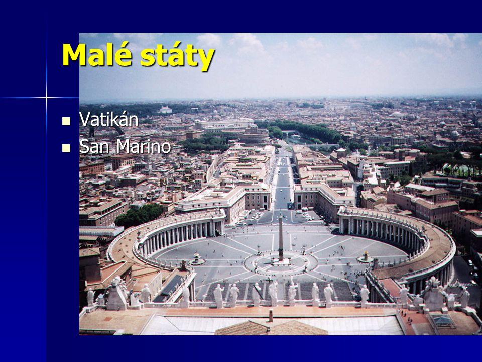 Malé státy Vatikán Vatikán San Marino San Marino