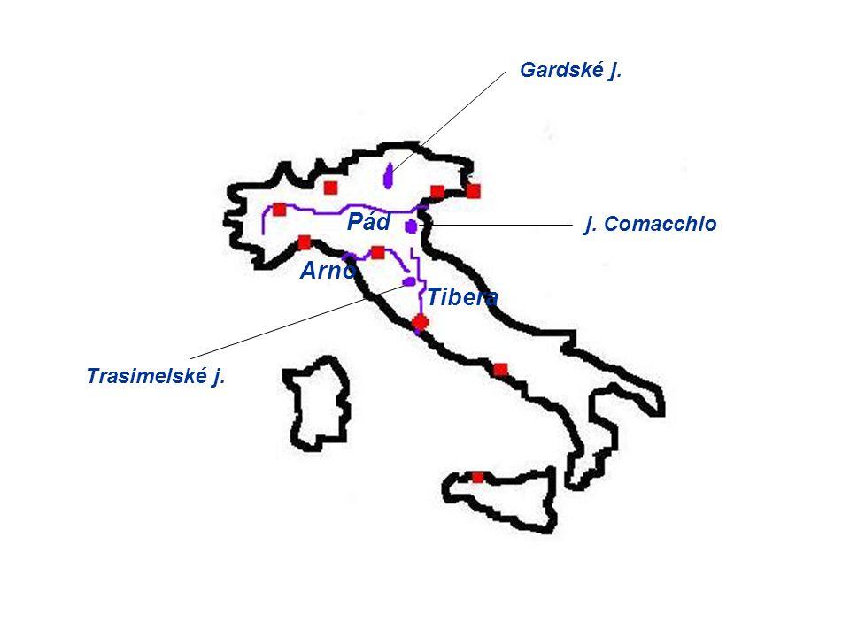 Pád Tibera Arno Gardské j. j. Comacchio Trasimelské j.