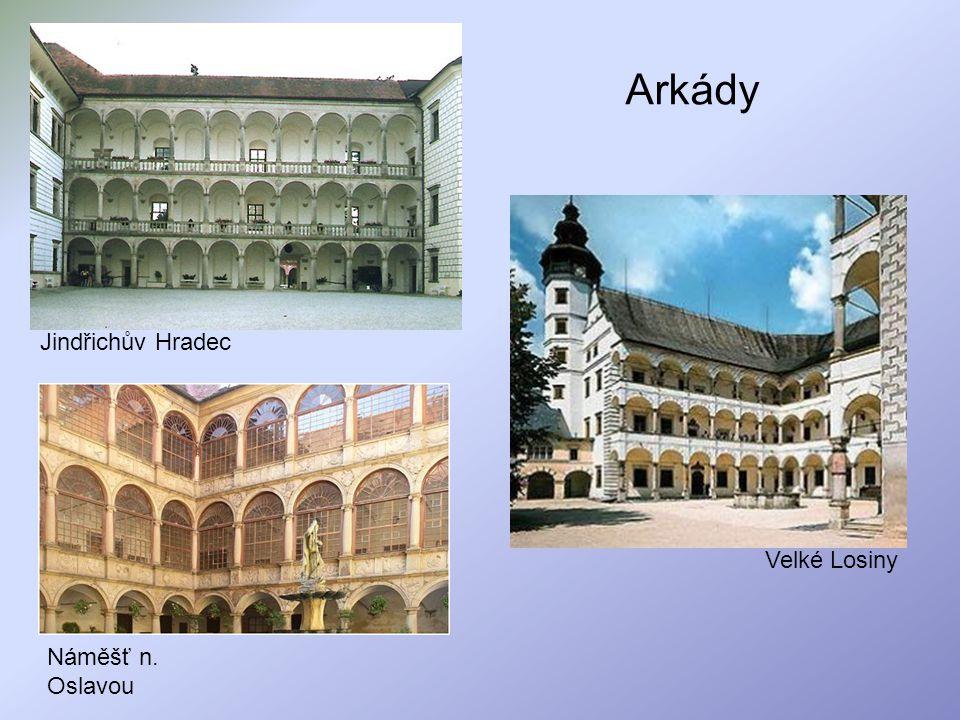 Arkády Jindřichův Hradec Velké Losiny Náměšť n. Oslavou