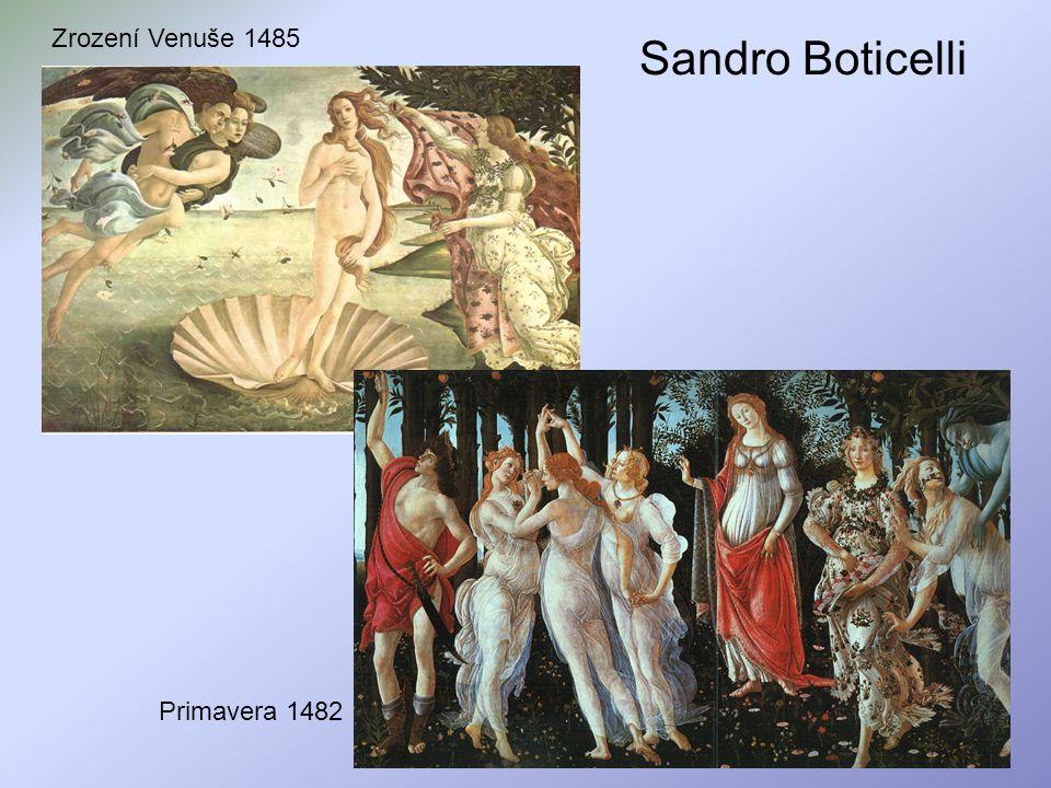Sandro Boticelli Zrození Venuše 1485 Primavera 1482