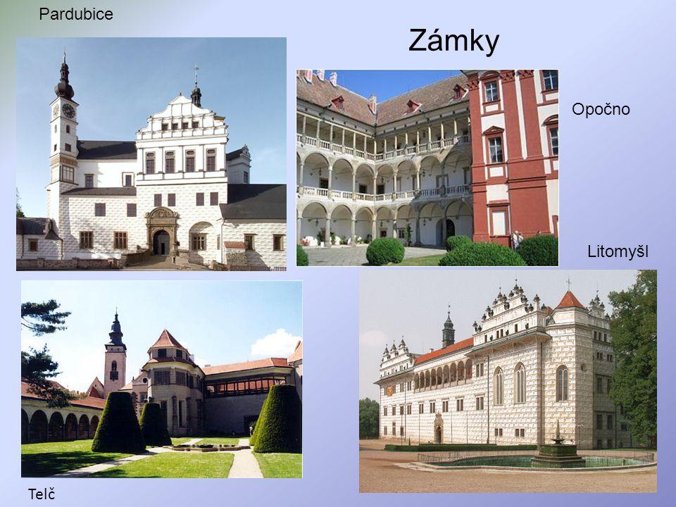 Zámky Litomyšl Pardubice Telč Opočno