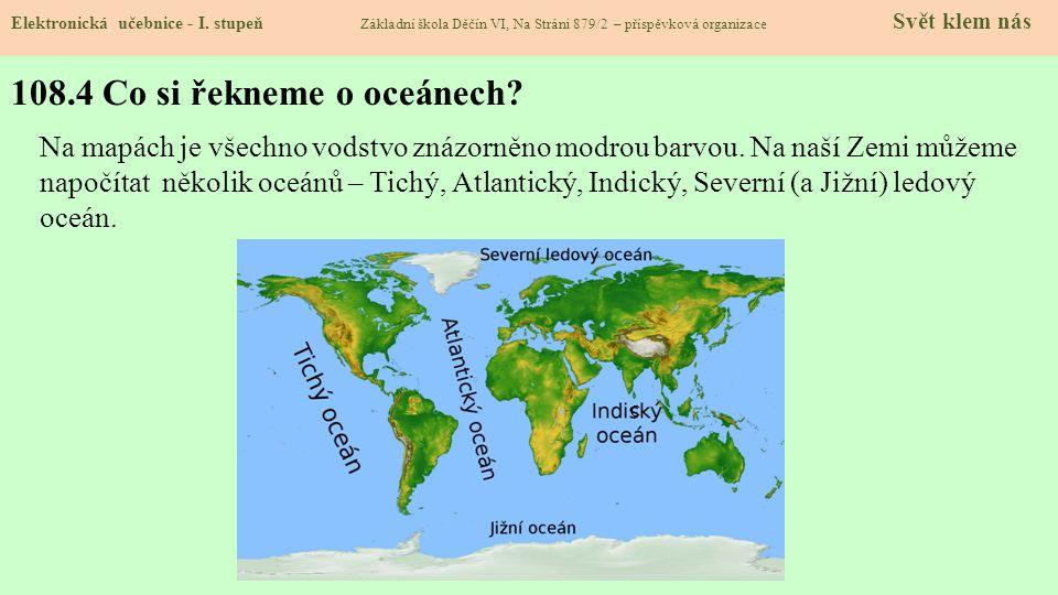 108.4 Co si řekneme o oceánech.Elektronická učebnice - I.