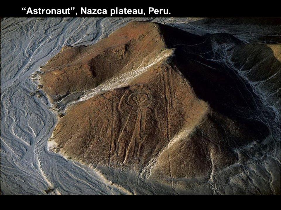"""""""Astronaut"""", Nazca plateau, Peru."""