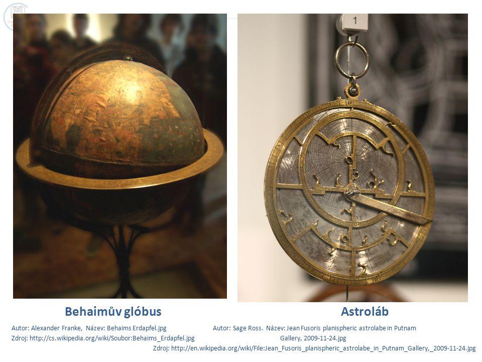 Behaimův glóbus Astroláb Autor: Alexander Franke, Název: Behaims Erdapfel.jpg Autor: Sage Ross.