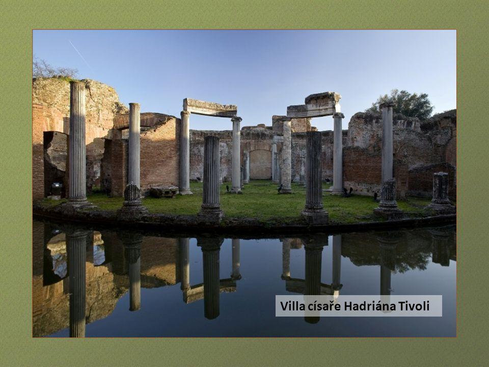 Fontána sta hlav Villa d Este Tivoli