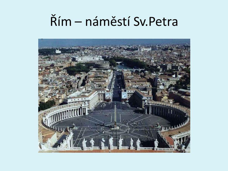 """""""Věčné město Koloseum Andělský hrad Pantheon"""