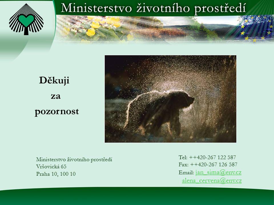 Ministerstvo životního prostředí Vršovická 65 Praha 10, 100 10 Tel: ++420-267 122 587 Fax: ++420-267 126 587 Email: jan_sima@env.czjan_sima@env.cz ale