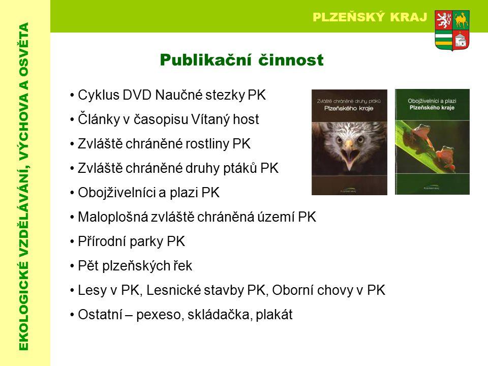 EKOLOGICKÉ VZDĚLÁVÁNÍ, VÝCHOVA A OSVĚTA PLZEŇSKÝ KRAJ Cyklus DVD Naučné stezky PK Články v časopisu Vítaný host Zvláště chráněné rostliny PK Zvláště c