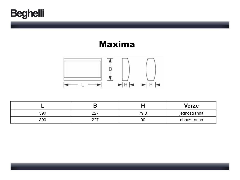 Maxima LBHVerze 39022779,3jednostranná 39022790oboustranná