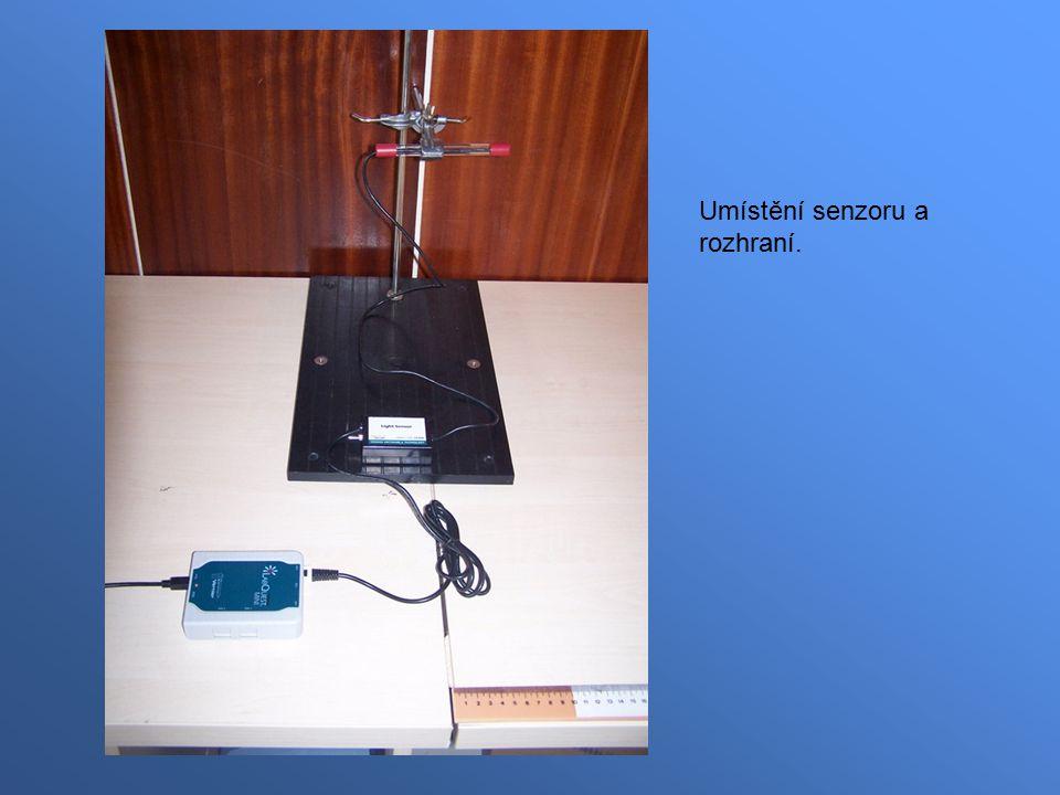 Umístění senzoru a rozhraní.