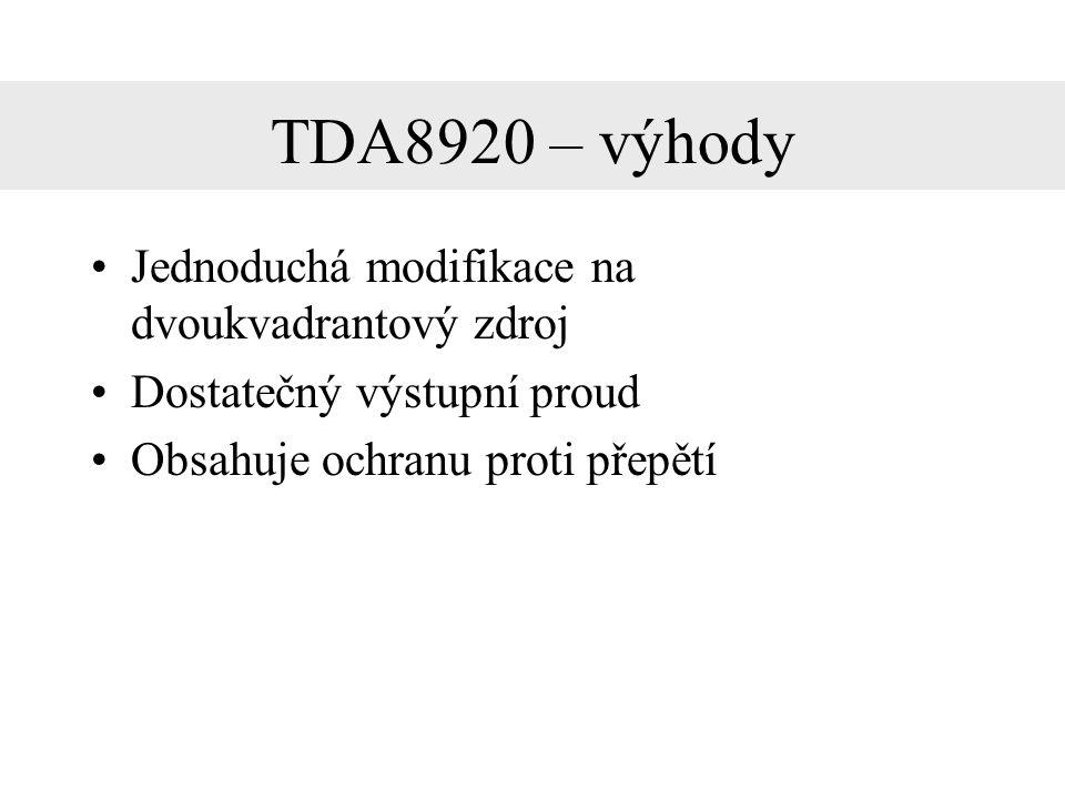 Schéma zapojení TDA8920