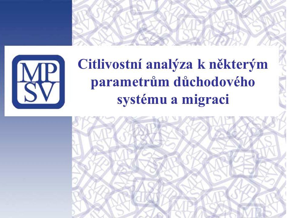 Citlivostní analýza k některým parametrům důchodového systému a migraci
