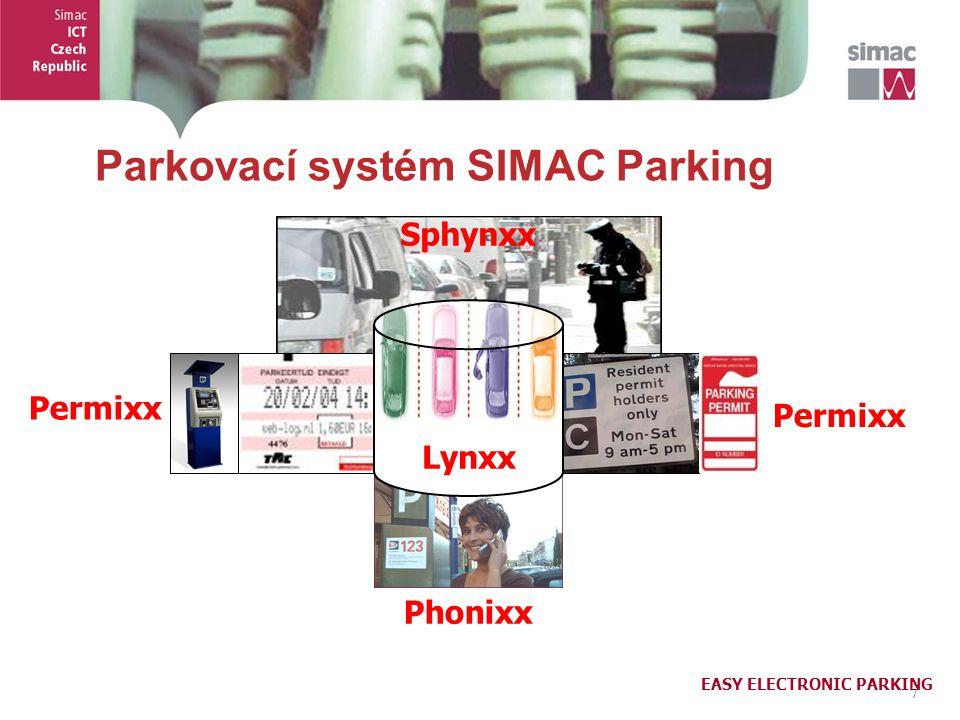 8 8 Parkovací systém SIMAC Parking Kontrola parkování Sphynxx on-line 24x7 GPS lokalizace přestupku a strážníků hand-held terminál lze nasadit kdekoli, nyní, hned Placení parkovného Phonixx platba hlas, SMS, karta, předplatné bez předregistrace, bezhotovostní nezávislé na teleoperátorovi Rezidenční karty Permixx evidence, objednávání a výdej karet přístup přes web klienta součást centrální databáze Integrační platforma Lynxx