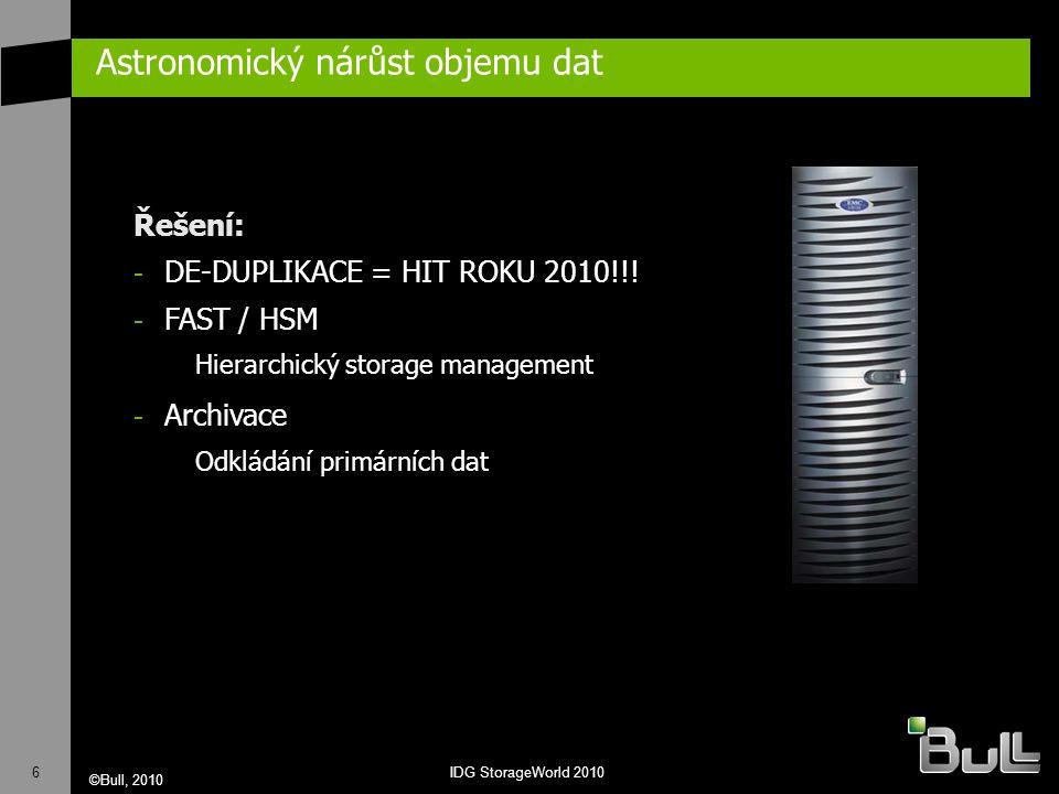 7 ©Bull, 2010 IDG StorageWorld 2010 Energetická efektivnost G et R eal E nergy E fficiency N ow Trendy: - DE-DUPLIKACE!!.