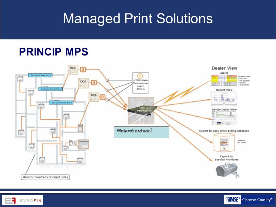 www.cdsofficetech.com PRINCIP MPS Managed Print Solutions Webové rozhraní