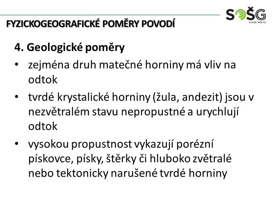 FYZICKOGEOGRAFICKÉ POMĚRY POVODÍ 5.