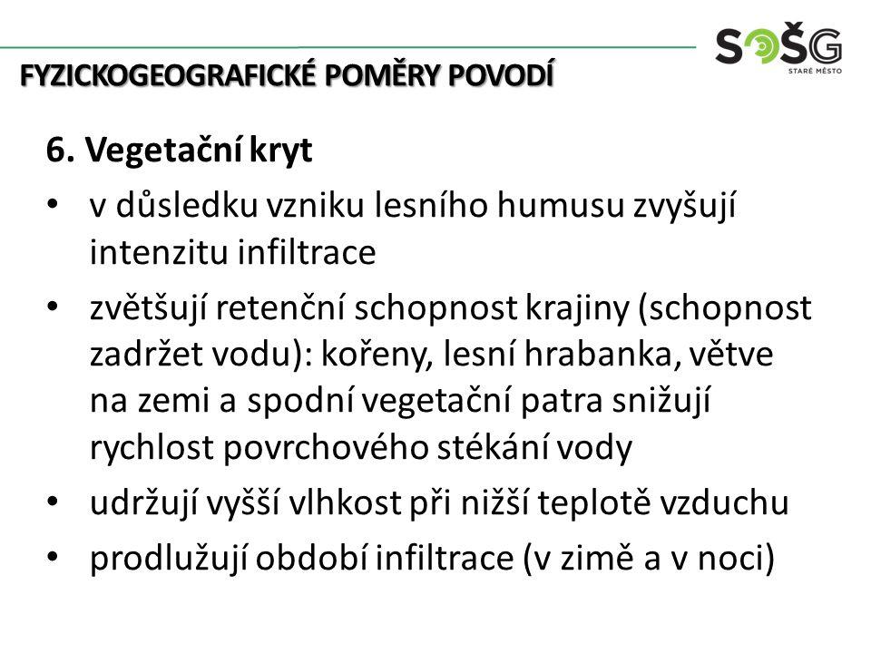 FYZICKOGEOGRAFICKÉ POMĚRY POVODÍ 6.