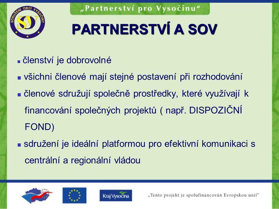 PARTNERSTVÍ A BUDOUCNOST Předpoklady úspěšného partnerství Široká účast zainteresovaných subjektů Místní znalost Efektivní komunikace Společná vize Společné rozhodování Sdružení prostředků Neuplatňování autoritativních postupů
