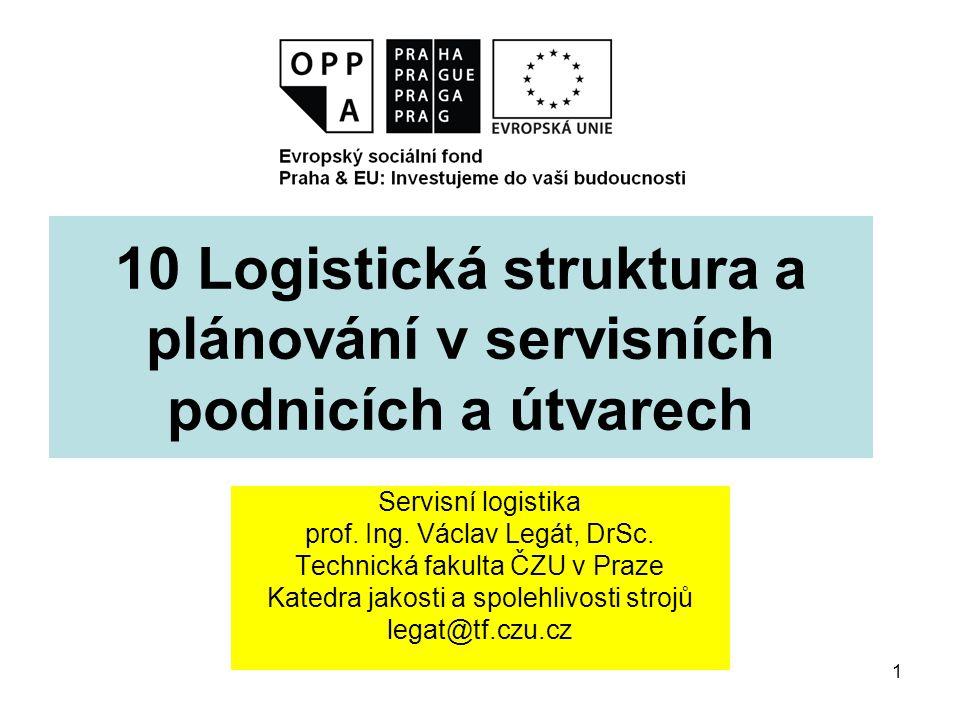 1 10 Logistická struktura a plánování v servisních podnicích a útvarech Servisní logistika prof.
