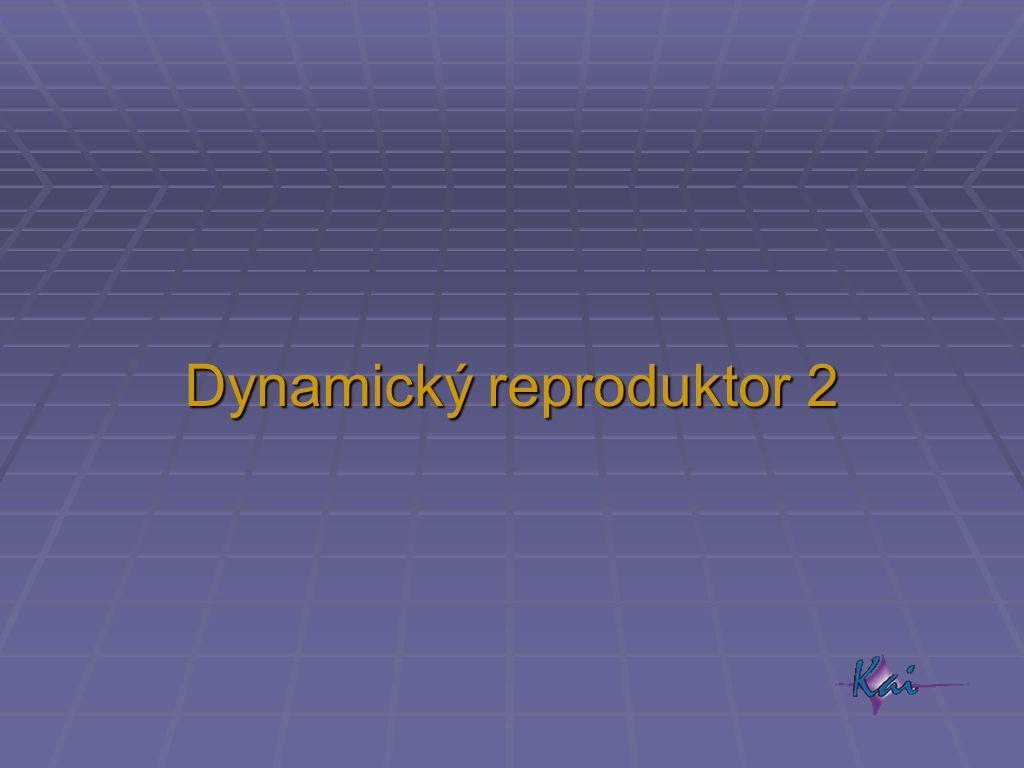 Dynamický reproduktor 2
