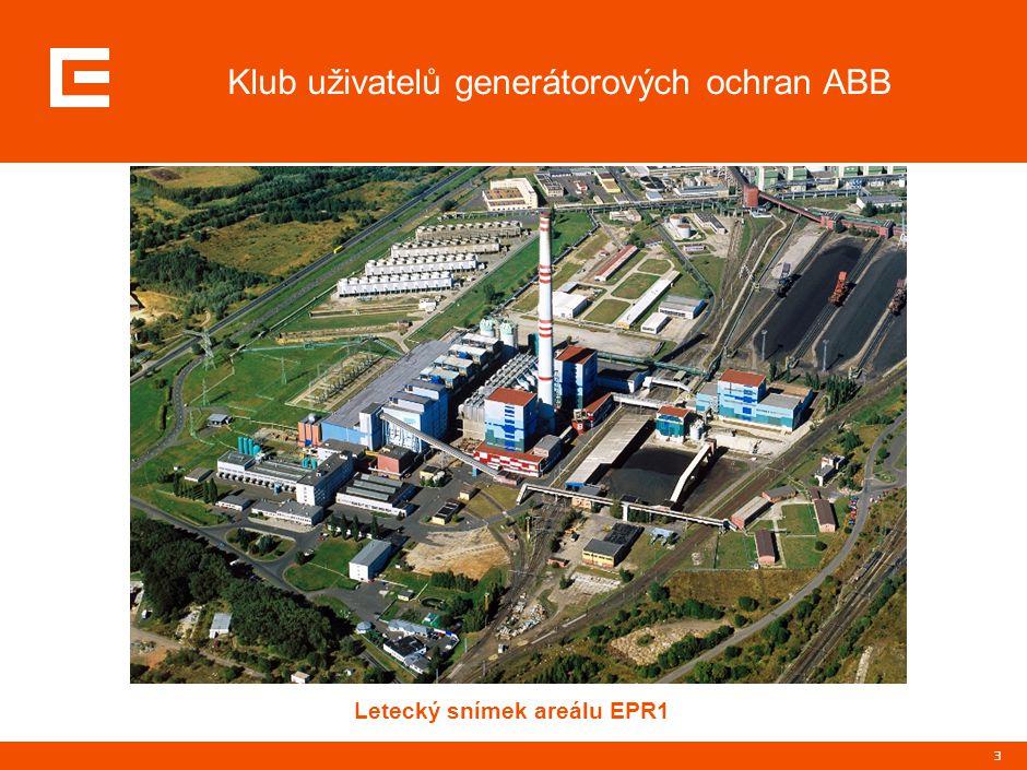 3 Klub uživatelů generátorových ochran ABB Letecký snímek areálu EPR1