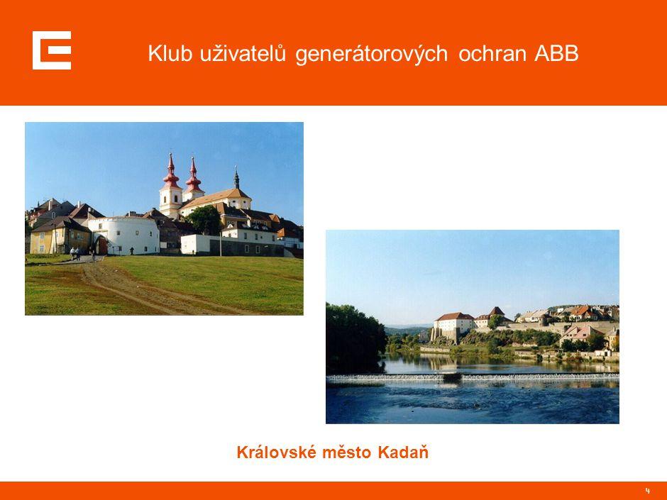 4 Klub uživatelů generátorových ochran ABB Královské město Kadaň