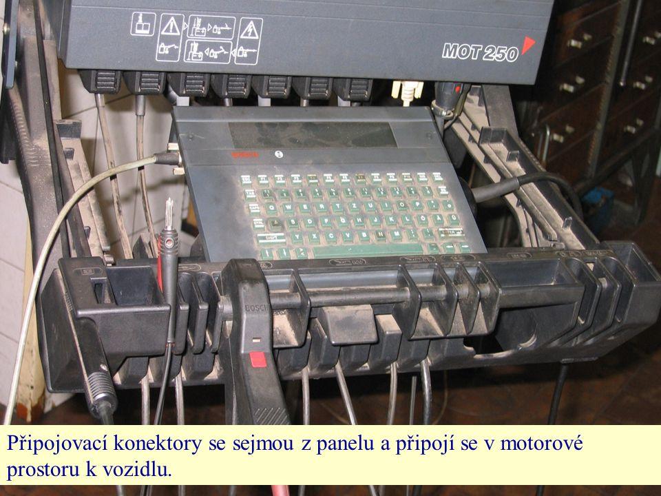 Připojovací konektory se sejmou z panelu a připojí se v motorové prostoru k vozidlu.