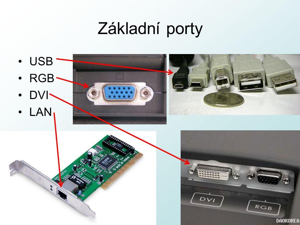 Základní porty USB RGB DVI LAN http://pcu3v.fjfi.cvut.cz