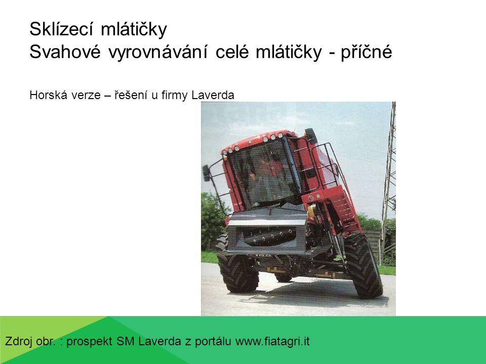 Sklízecí mlátičky Transport – odpojení žacího stolu MZ 10- 2011 Zdroj obr.