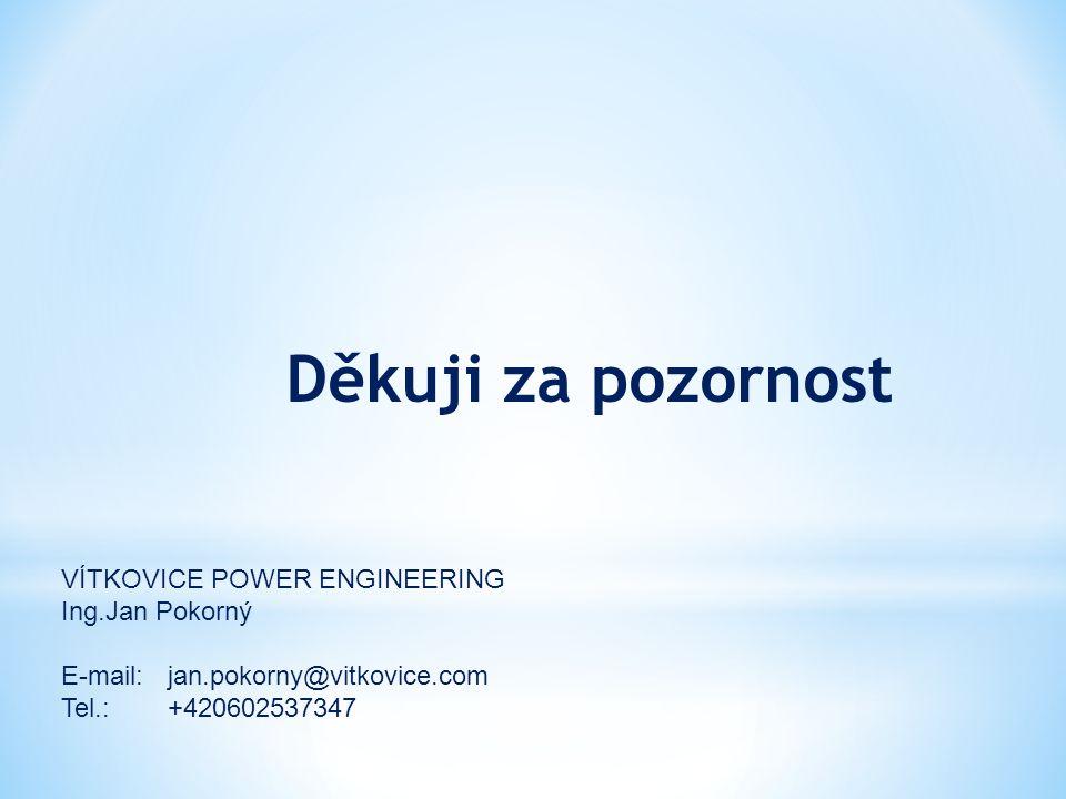 Děkuji za pozornost VÍTKOVICE POWER ENGINEERING Ing.Jan Pokorný E-mail: jan.pokorny@vitkovice.com Tel.:+420602537347