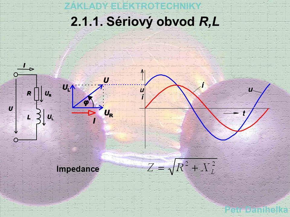 5. Úbytky napětí na odporech 6. Nakreslíme fázorový diagram 7. Určíme účiník cos 8. Z účiníku určíme fázový posun mezi U a I 9. Podle smyslu fázového