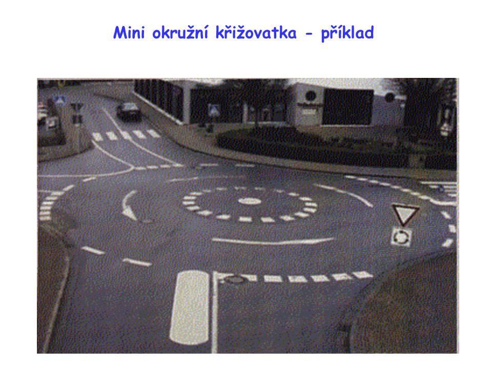 Mini okružní křižovatka - příklad