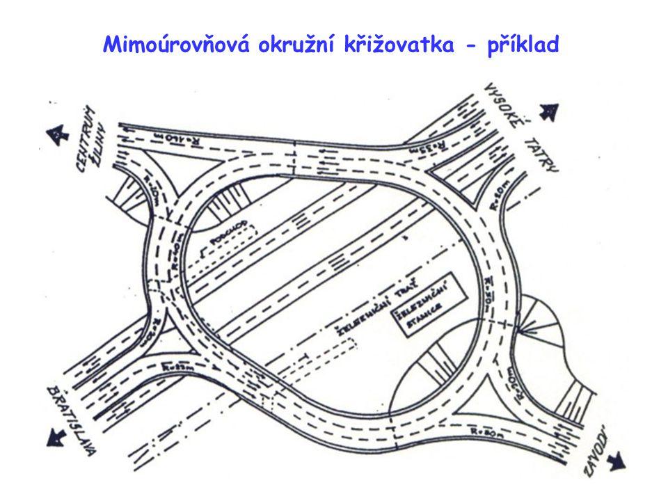 Mimoúrovňová okružní křižovatka - příklad