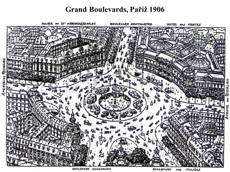 Grand Boulevards, Paříž 1906