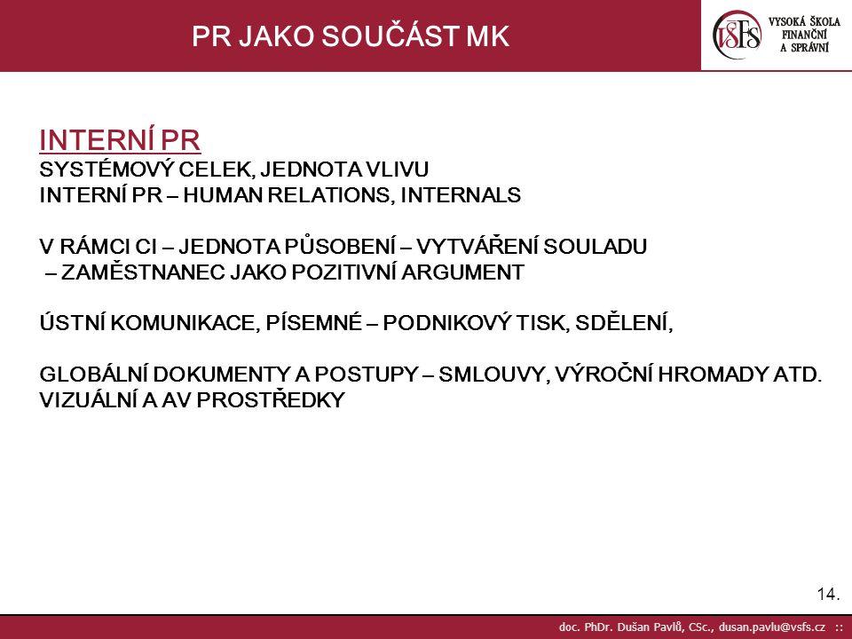 14. doc. PhDr.