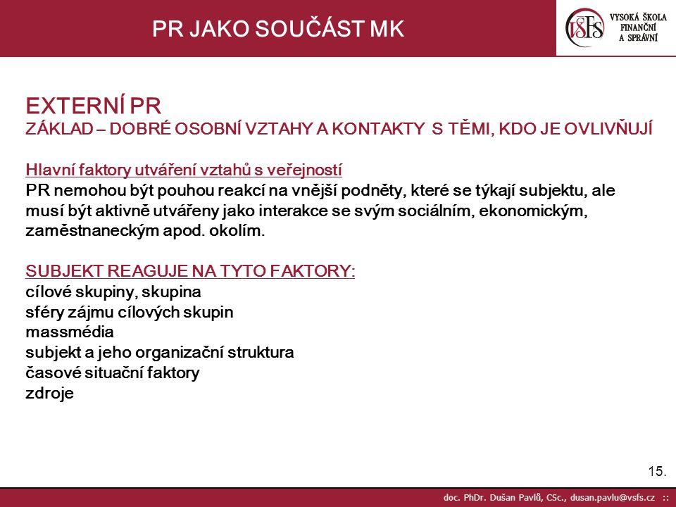 15. doc. PhDr.