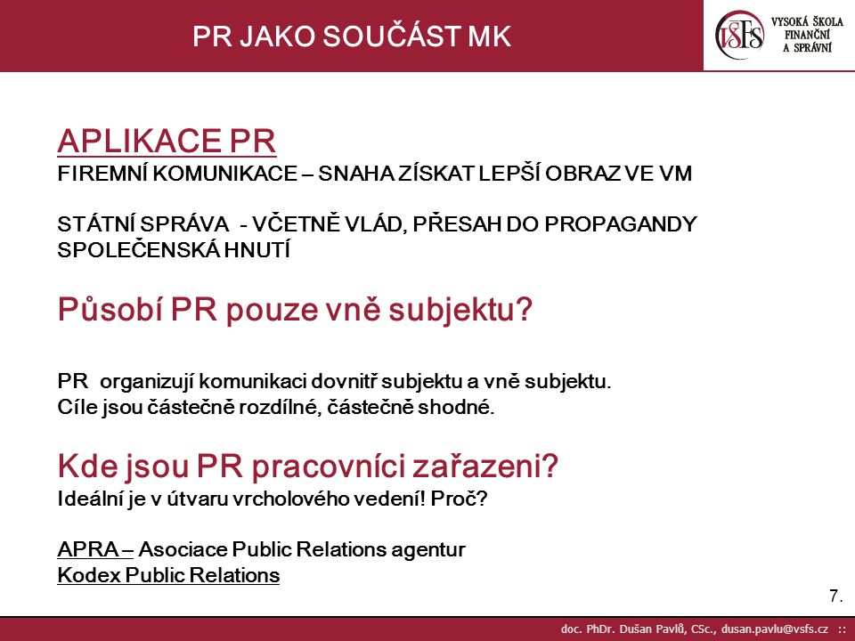 7.7. doc. PhDr.