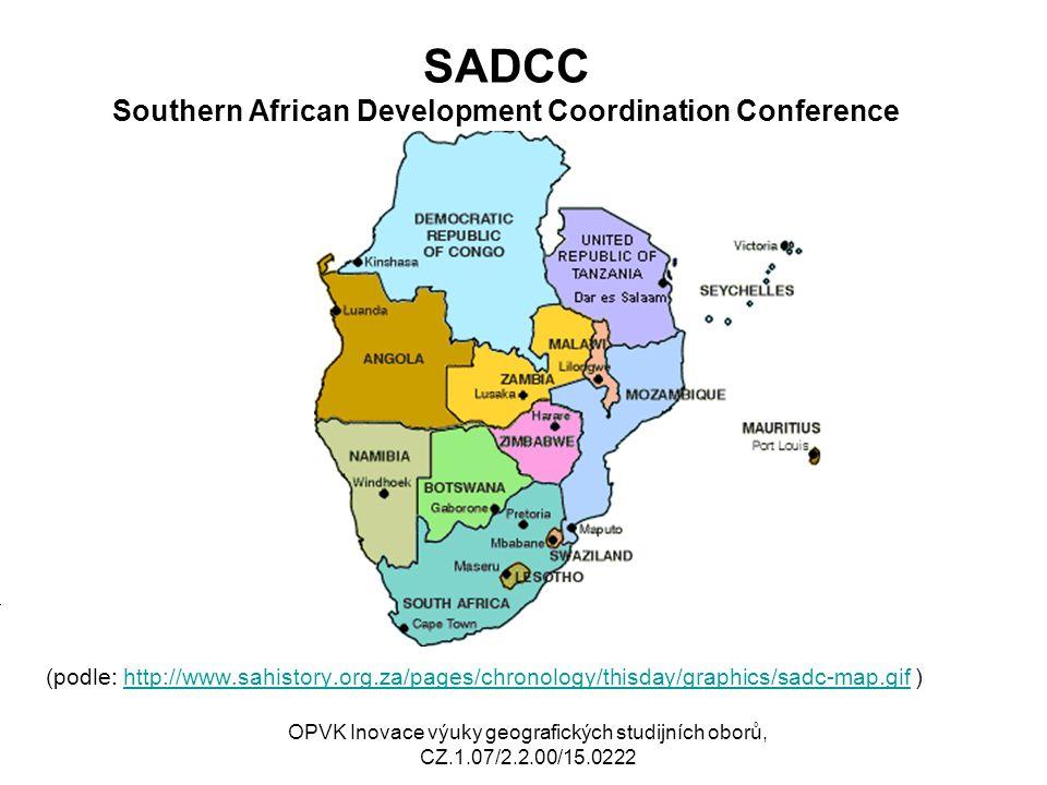 CEEAC /ECCAS Communauté Economique des Etats de´l Afrique Centrale Economic Community of Central African States (podle: http://www.africa- badminton.com/BCA/carteCEEAC.g if )http://www.africa- badminton.com/BCA/carteCEEAC.g if Mj OPVK Inovace výuky geografických studijních oborů, CZ.1.07/2.2.00/15.0222