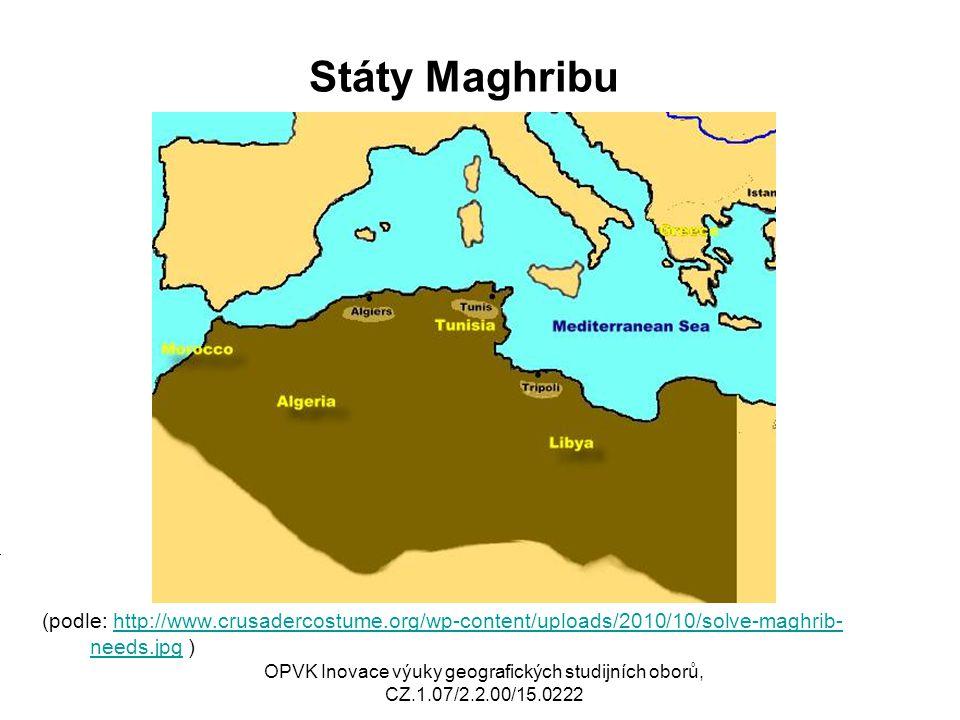 Španělská severní Afrika, Nilské státy (podle: http://upload.wikimedia.org/wikipedia/commons/3/33/Ceuta-melilla.pnghttp://upload.wikimedia.org/wikipedia/commons/3/33/Ceuta-melilla.png http://www.mapsofworld.com/africa-country-groupings/north-africa-political-map.jpg )http://www.mapsofworld.com/africa-country-groupings/north-africa-political-map.jpg Mj OPVK Inovace výuky geografických studijních oborů, CZ.1.07/2.2.00/15.0222
