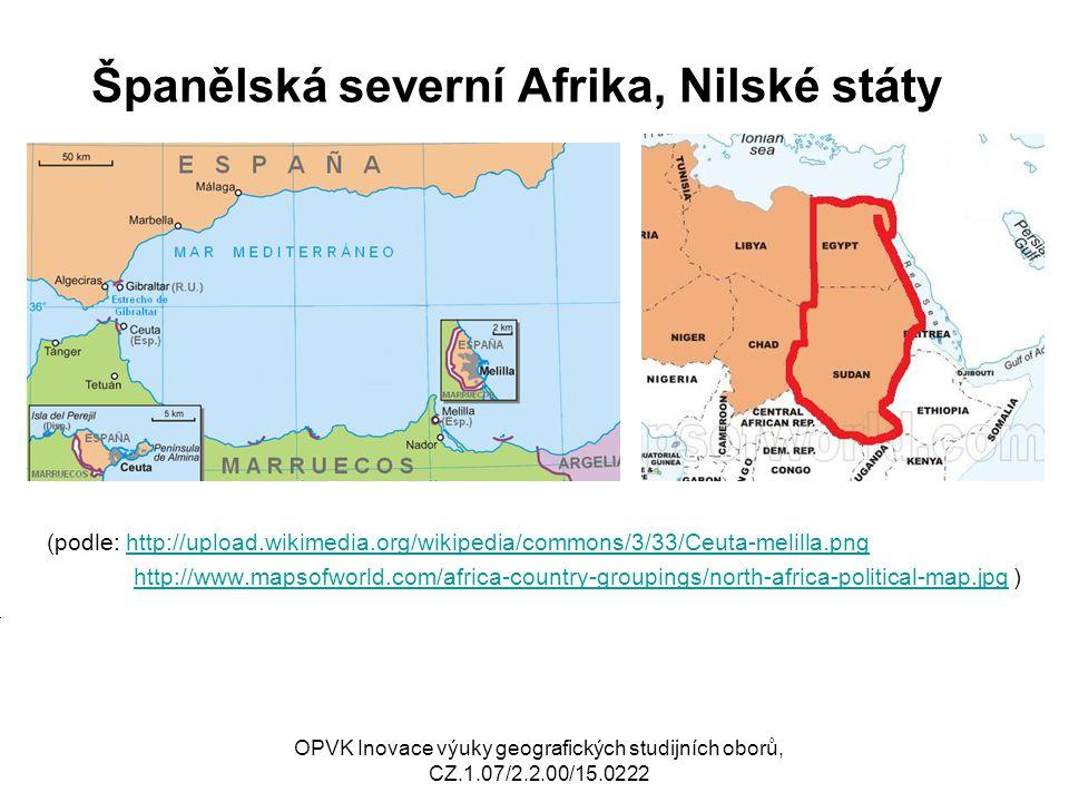 Španělská severní Afrika, Nilské státy (podle: http://upload.wikimedia.org/wikipedia/commons/3/33/Ceuta-melilla.pnghttp://upload.wikimedia.org/wikiped