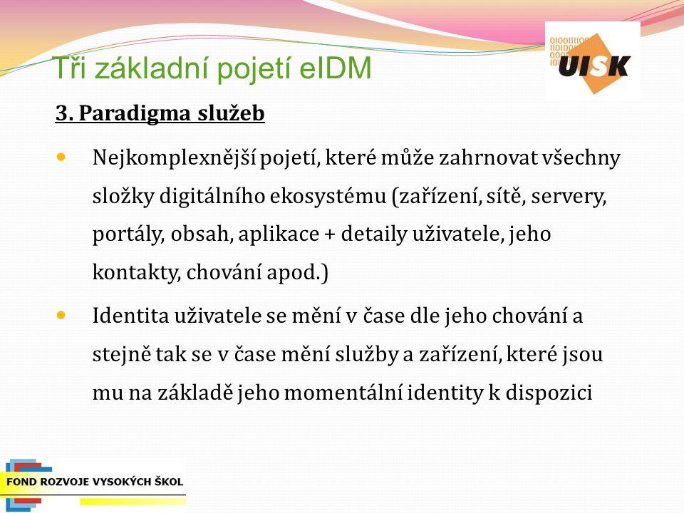 Tři základní pojetí eIDM 3.