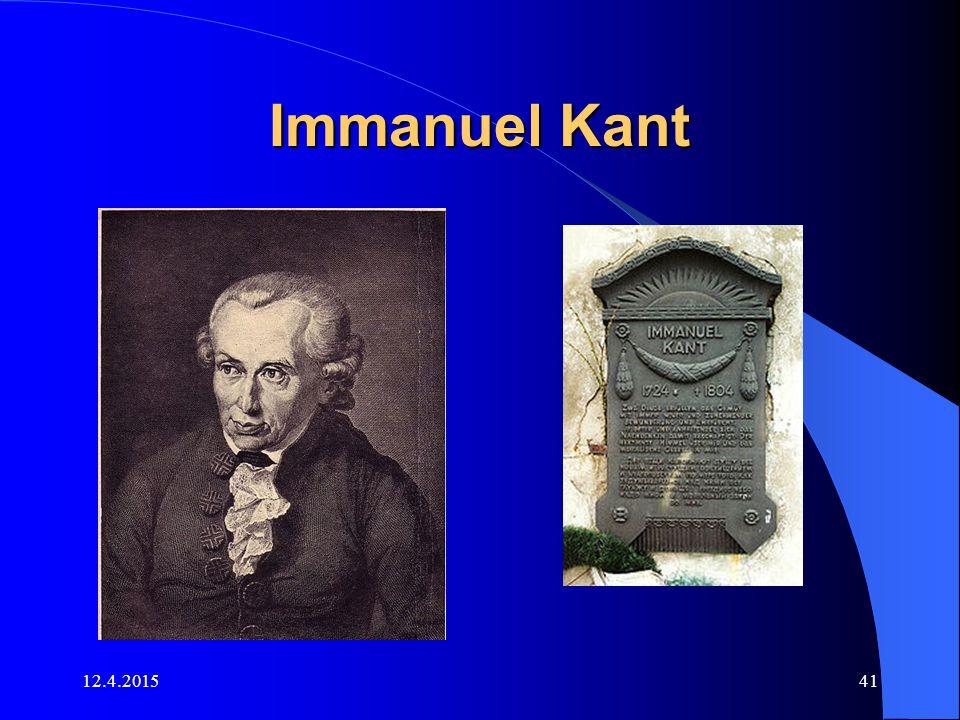 12.4.201541 Immanuel Kant