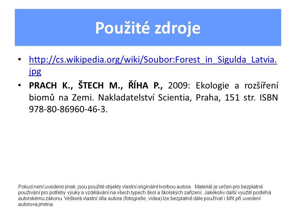 Použité zdroje http://cs.wikipedia.org/wiki/Soubor:Forest_in_Sigulda_Latvia.
