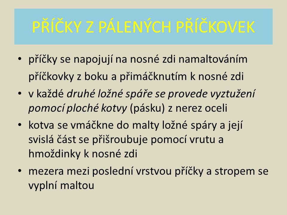 PŘÍČKY Z PÁLENÝCH PŘÍČKOVEK Obr. 1.