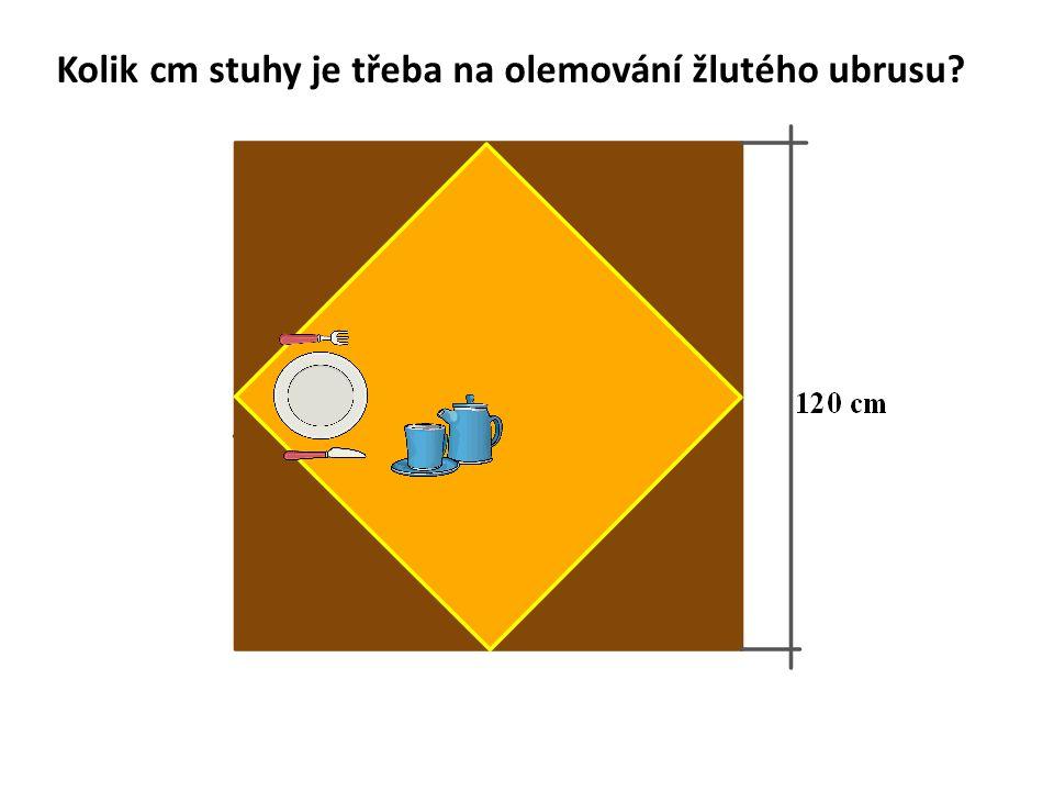 Kolik cm stuhy je třeba na olemování žlutého ubrusu