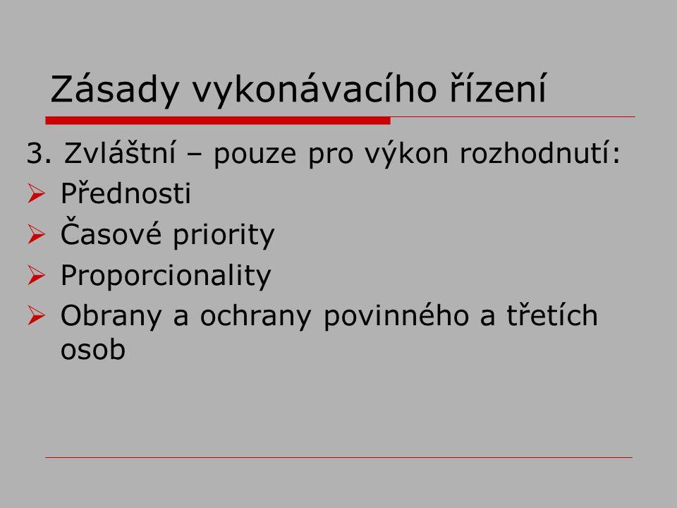 Zásady vykonávacího řízení 3.
