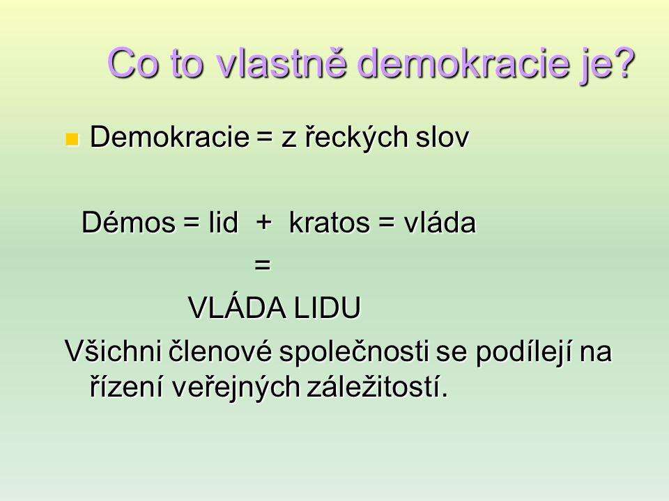 Hodnoty demokracie 1.