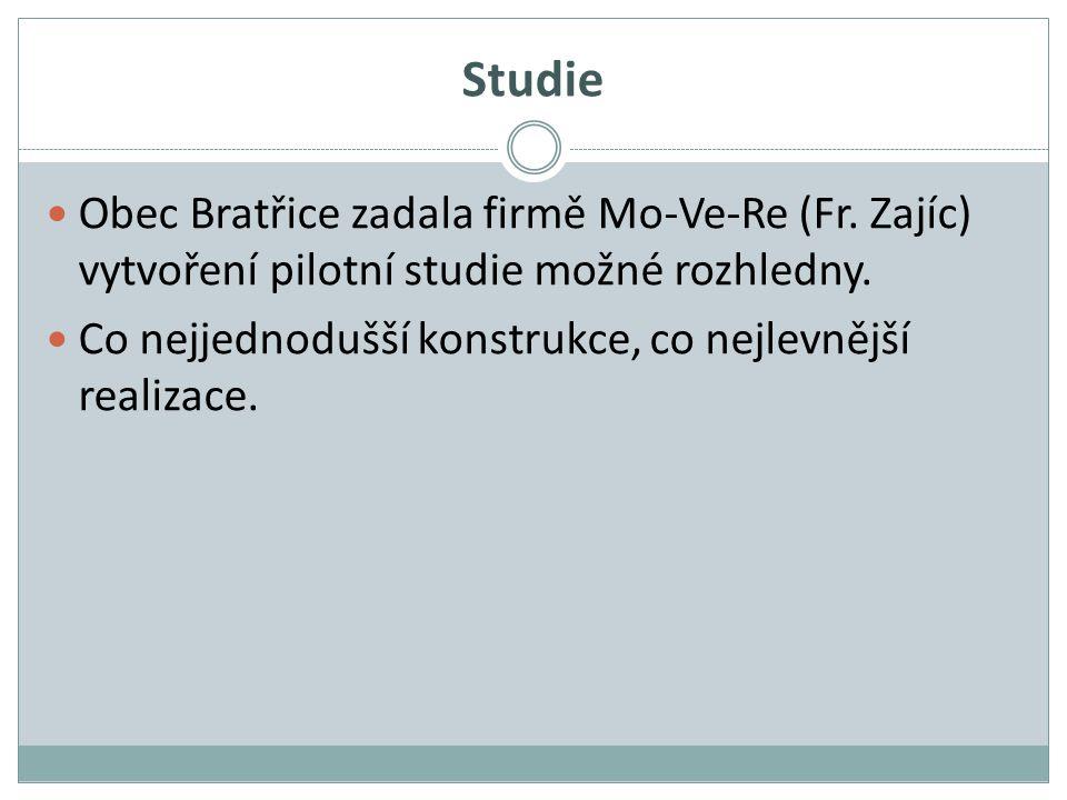 Studie Obec Bratřice zadala firmě Mo-Ve-Re (Fr. Zajíc) vytvoření pilotní studie možné rozhledny.